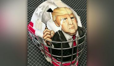 Trump goalie mask made for youth hockey player draws criticism