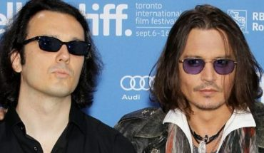 """Damien Echols, one of the West Memphis Three, and actor Johnny Depp at a press conference for the film """"West of Memphis"""" at the 2012 Toronto International Film Festival in Toronto."""