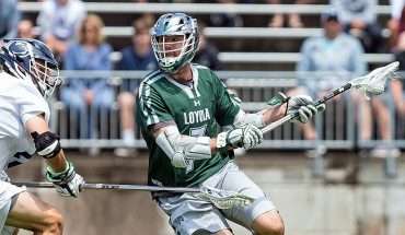 College lacrosse star trading in stick to play basketball at Northwestern