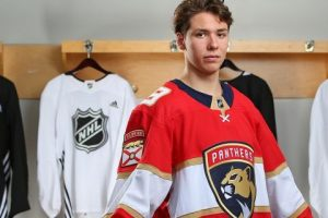 The Panthers selected Henrik Rybinski in the fifth round. (Photo by Andre Ringuette/NHLI via Getty Images)