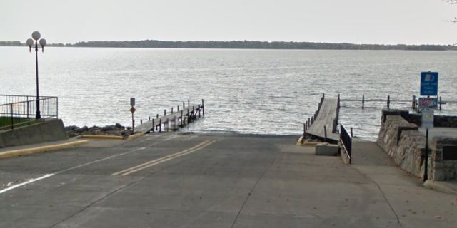 The boat launch is located at the end of Main Avenue.