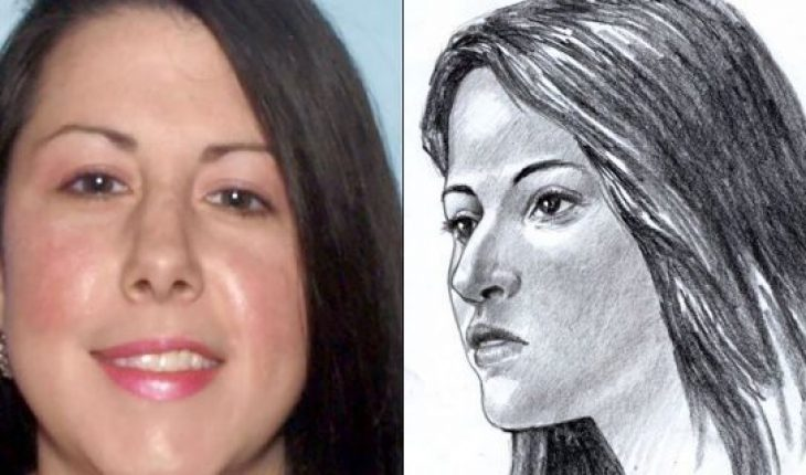 From the left: A released photo of Jessica Ashley Manchini, who police identified as the woman whose remains were found stuffed in a suitcase along a Georgia highway three years ago. Police released a forensic illustration in 2016 of what the woman might have looked like based on the remains.