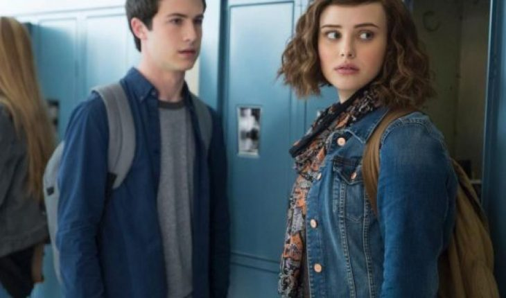 Actors Dylan Minnette and Katherine Langford seen in Netflix