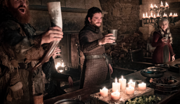"This image released by HBO shows Kristofer Hivju, from left, Kit Harington and Emilia Clarke in a scene from ""Game of Thrones."""