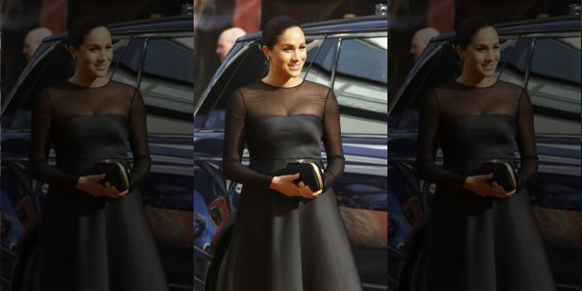 Meghan, Duchess of Sussex, poses for photographers upon arrival at the 'Lion King' European premiere in central London, Sunday, July 14, 2019. (Photo by Joel C Ryan/Invision/AP)