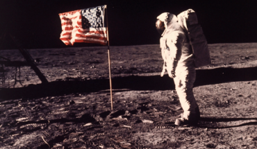 FILE - In this image provided by NASA, astronaut Buzz Aldrin poses for a photograph beside the U.S. flag deployed on the moon during the Apollo 11 mission on July 20, 1969.