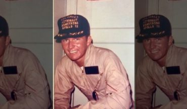 Dick Powers, who at the time was a 23-year-old U.S. Navy lieutenant, pictured wearing a baseball cap that was to be presented to the Apollo 11 astronauts. (Dick Powers)
