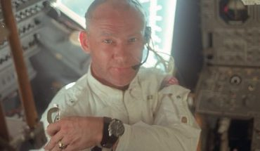 """This July 20, 1969 photo made available by NASA shows pilot Edwin """"Buzz"""" Aldrin in the Apollo 11 Lunar Module. For the 50th anniversary of the landing, Omega issued a limited edition Speedmaster watch, a tribute to the one that Aldrin wore to the moon."""