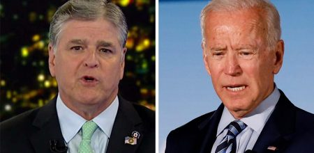 Hannity challenges Biden, says Trump too busy 'cleaning up your mess' to hold pushup contest