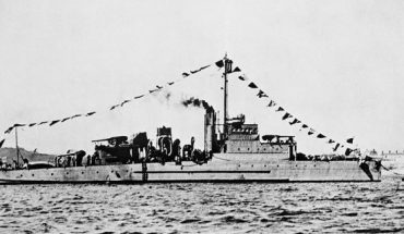 Undated photo of an Eagle class patrol boat built during World War I. It is similar to the USS Eagle PE-56, which exploded and sank off Cape Elizabeth, Maine, on April 23, 1945, killing most of its crew in New England