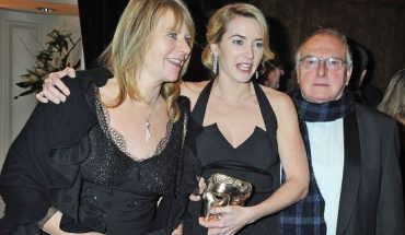 Kate Winslet, mother Sally and father Rodger Winslet arrive at the dinner following The Orange British Academy Film Awards at the Grosvenor House Hotel on Feb. 8, 2009 in London. Winslet recently learned about her Swedish ancestry at her mother