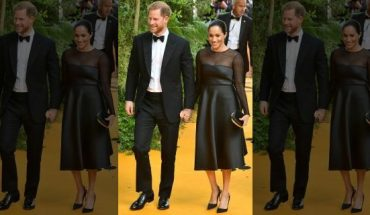 "Meghan, Duchess of Sussex and Prince Harry, Duke of Sussex attend ""The Lion King"" European Premiere at Leicester Square on July 14, 2019 in London."
