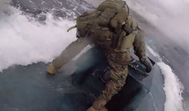 The Coast Guard released dramatic video on Thursday of service members jumping onto a moving drug smuggling vessel that was carrying about 17,000 pounds of cocaine.