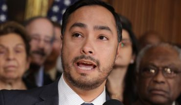 Rep. Joaquin Castro, D-Texas, speaks during a news conference in February.