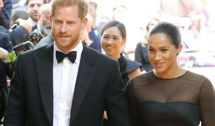"""Prince Harry, Duke of Sussex and Meghan Markle, Duchess of Sussex attend """"The Lion King"""" European Premiere at Leicester Square on July 14, 2019 in London. The couple"""