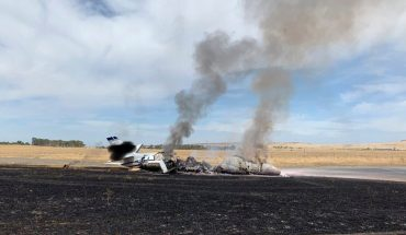 Small jet catches fire at California airport with 10 aboard, no injuries reported