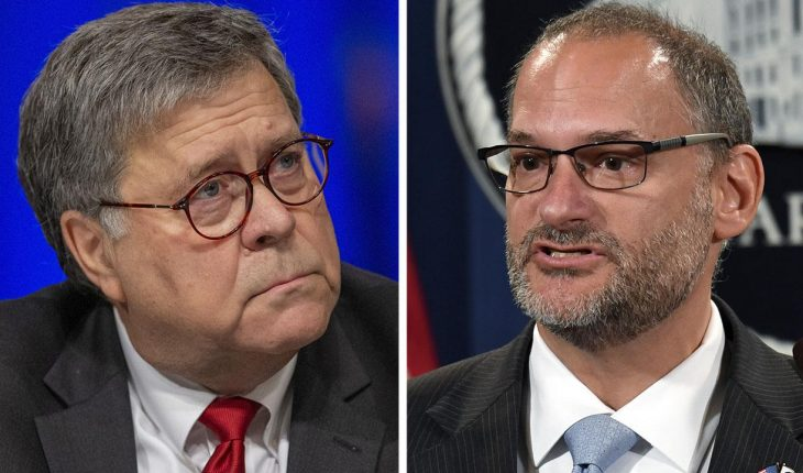 Barr removes US prisons chief following Epstein's death in jail