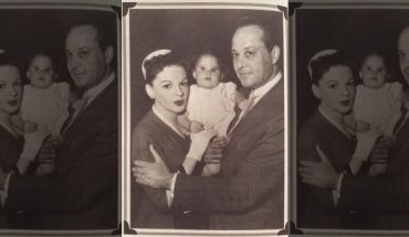 """Lorna Luft as a baby with her mother, Judy Garland, and father, Sid Luft on the set of """"A Star Is Born."""""""