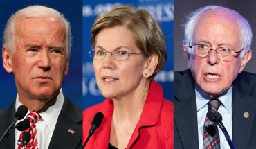 Biden plunges, tied with Warren and Sanders in new national poll