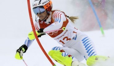 FILE - In this Thursday, Feb. 22, 2018 file photo, Lindsey Vonn competes in the women
