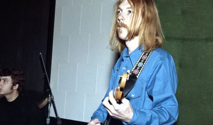 Session guitarist Duane Allman and session drummer Johnny Sandlin rehearse at FAME Studios in 1968 in Muscle Shoals, Alabama.