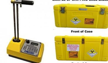 A portable moisture-density gauge and case similar to one reported stolen on Monday in Colorado.