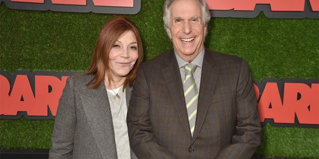 HOLLYWOOD, CA - MARCH 21: Stacey Weitzman (L) and Henry Winkler attend the premiere of HBO's 'Barry' at NeueHouse Los Angeles on March 21, 2018 in Hollywood, California.