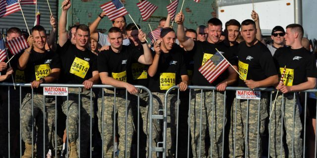 Patriotism at the Tunnel to Towers race in 2014 <a class=