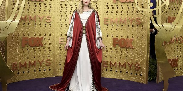 Gwendoline Christie arrives at the 71st Primetime Emmy Awards on Sunday, Sept. 22, 2019, at the Microsoft Theater in Los Angeles.