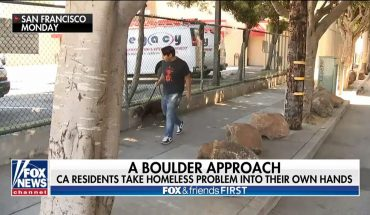 San Francisco removes boulders meant to deter homeless campers because they were 'not big enough'