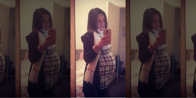 Emily Taylor when she was pregnant with one of her sons.