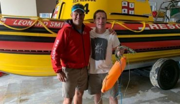 """Prinsloo returned to the rescue base to retrieve his buoy, as he had plans to """"go spearfishing"""" the very next day."""