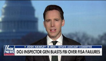 Sen. Hawley: FBI meddled in 2016 election, Dems 'essentially bought' an investigation