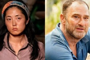 "Kellee Kim, left, and Dan Spilo, right, on ""Survivor: Island of the Idols"""
