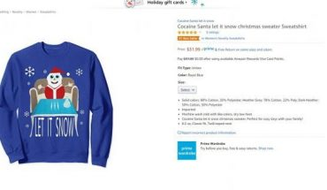 """The sweater is""""perfect for cozy days with your family!"""" according to its product description."""