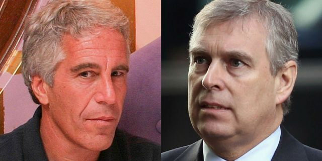 Prince Andrew (right) and Jeffrey Epstein.