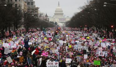 National Archives apologizes for blurring anti-Trump signs in Women's March photo: 'We made a mistake'