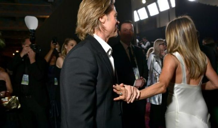 Brad Pitt and Jennifer Aniston attend the 26th Annual Screen Actors Guild Awards at The Shrine Auditorium on January 19, 2020 in Los Angeles, Calif.