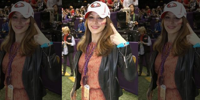 NEW ORLEANS, LA - FEBRUARY 03: Katharine McPhee attends the Pepsi Super Bowl XLVII Pregame Show at Mercedes-Benz Superdome on February 3, 2013 in New Orleans, Louisiana <a class=