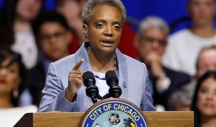 Mayor Lori Lightfoot speaks in Chicago, May 20, 2019. (Associated Press)