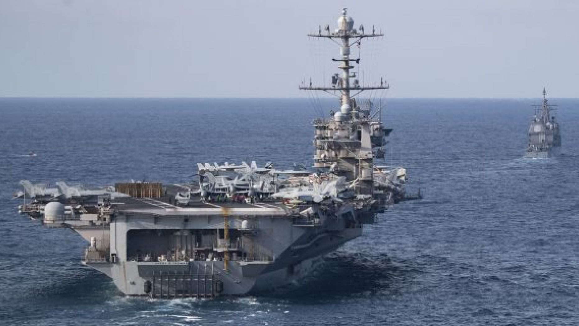 The Nimitz-class aircraft carrier USS Harry S <a class=