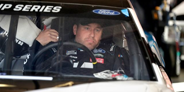 Ryan Newman makes adjustments in his car during a NASCAR auto race practice at Daytona International Speedway, Saturday, Feb <a class=