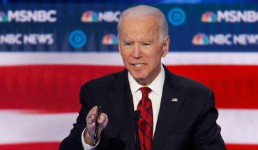 Joe Biden's closing debate remarks interrupted by immigrant-rights protesters