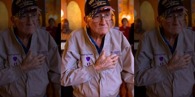 Pearl Harbor survivor Donald Stratton, seen here in a recent photo, died Saturday.