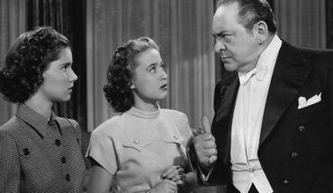 "Edward Arnold with Jane Powell (center) and Ann Todd in the MGM musical film ""The Birds and the Bees,"" aka ""Three Daring Daughters,"" 1947."