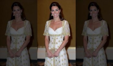 Catherine, Duchess of Cambridge attends an official dinner hosted by Malaysia