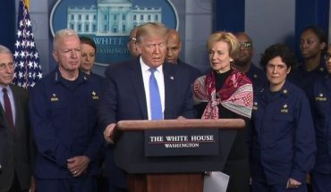 Trump attempts to calm country at WH coronavirus briefing, saying 'no need to hoard' supplies